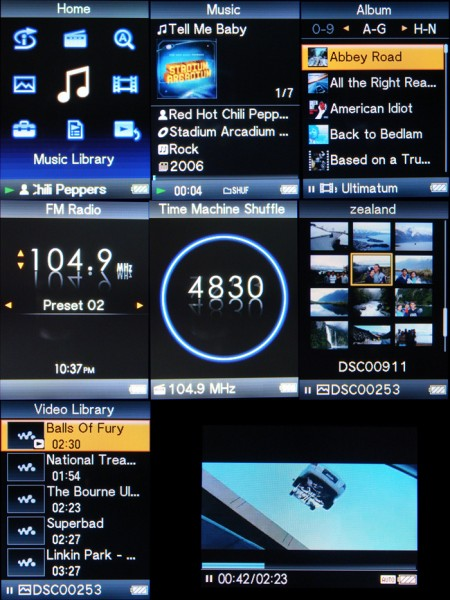 Sony Video Walkman Interface