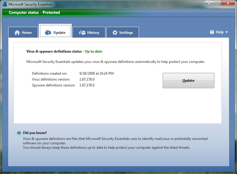 microsoft antivirus update file