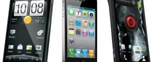 HTC EVO 4G vs. Apple iPhone 4 vs. Motorola Droid X